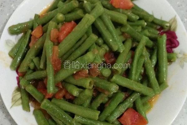 番茄炒缸豆