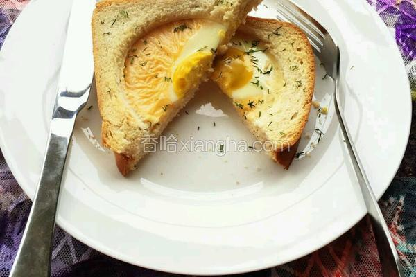 芝士太阳蛋烤吐司