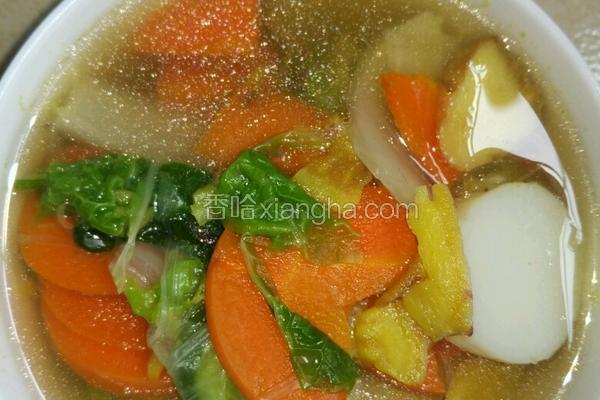 瘦身四色蔬菜汤