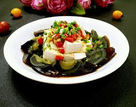 皮蛋拌豆腐[图]