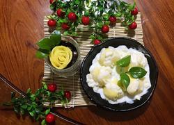 酸奶芒果盆栽与蛋糕芒果酸奶