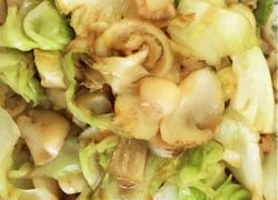 海螺片爆炒卷心菜