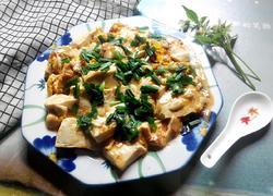 韭菜鸡蛋炒豆腐