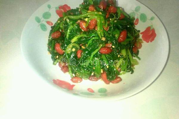 凉拌花生菠菜