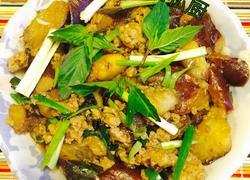 虾肉末九层塔香草茄子