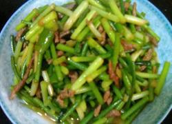 蒜苔炒肉丝(家常版)