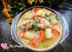 鸡腿冬瓜胡萝卜粉丝汤