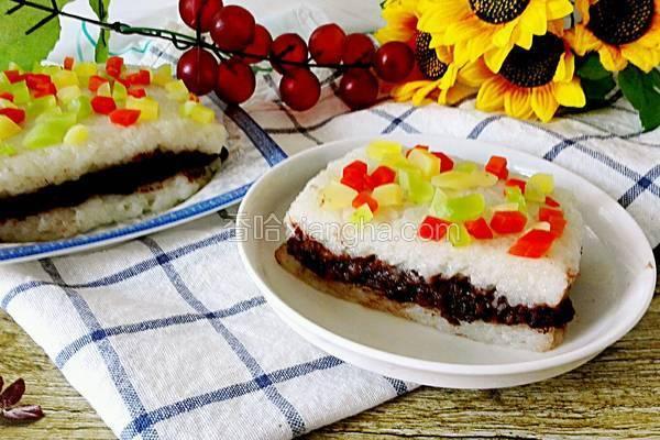 红豆糯米凉糕