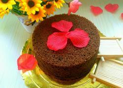 6寸巧克力可可戚风蛋糕