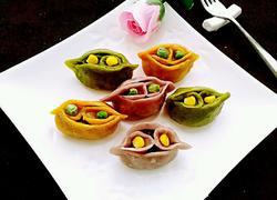 彩色鸳鸯蒸饺