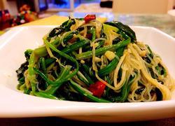 金针菇粉丝拌菠菜