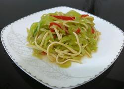 莴苣拌百叶丝
