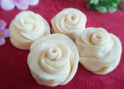 牛奶玫瑰花馒头