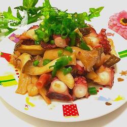 蒜香杏鲍菇章鱼