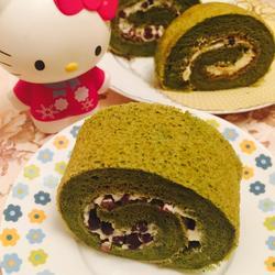 抹茶蜜豆蛋糕卷的做法[图]