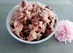 红小豆焖白米饭