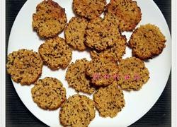 高纤麦片黑芝麻饼干