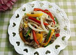 白菜梗炒瘦肉