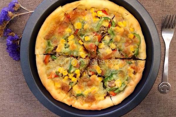 金枪鱼玉米粒披萨