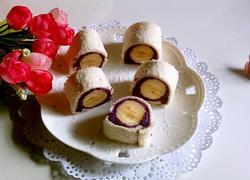 香蕉紫薯卷(吐司版)