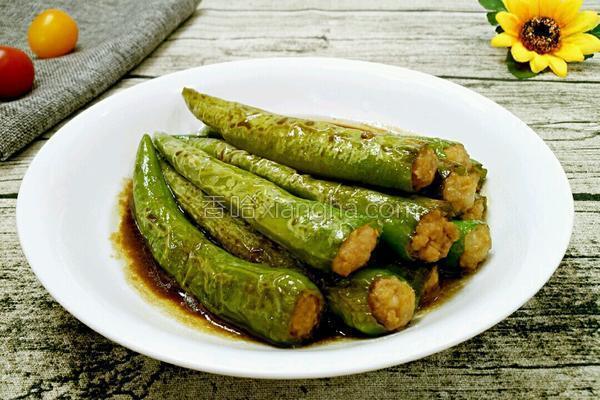 酿肉馅虎皮尖椒_虎皮尖椒酿肉的做法_菜谱_香哈网