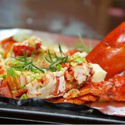 葱姜烤龙虾