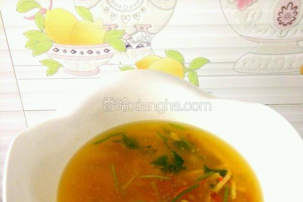 培根虫草豆腐汤