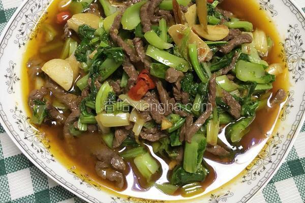 青菜炒牛肉