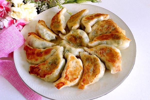 香菇青菜素锅贴
