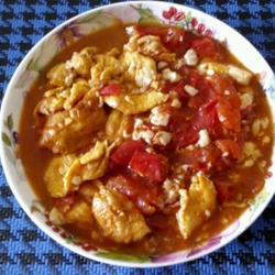 豆腐鸡蛋炒西红柿