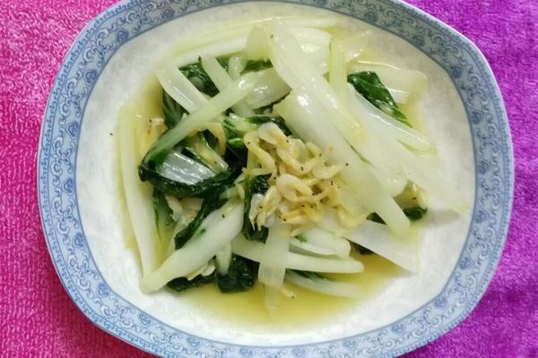 清炒虾皮小白菜