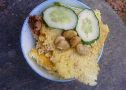剩米饭鸡蛋饼