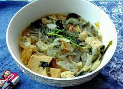 东北白菜冻豆腐炖粉条