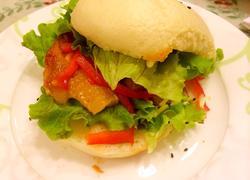 奥尔良烤馒头鸡腿堡