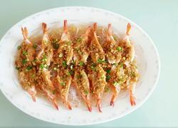 蒜蓉虾蒸粉丝