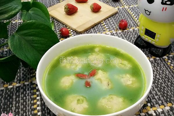 菠菜鱼丸汤