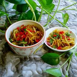 香菜辣椒腌芥菜