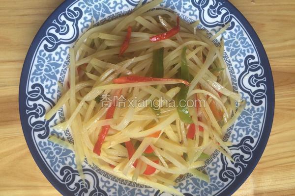 青红椒炒土豆丝