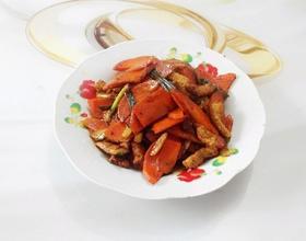 红萝卜炒肉