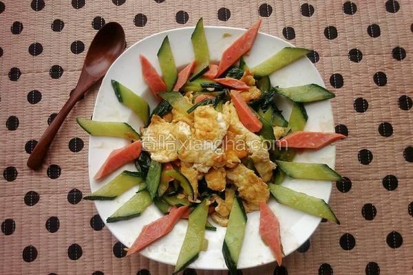 黄瓜炒火腿鸡蛋