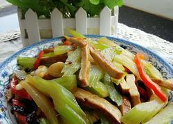 芹菜素炒五香豆干