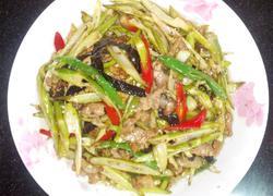 鲜竹笋炒肉丝