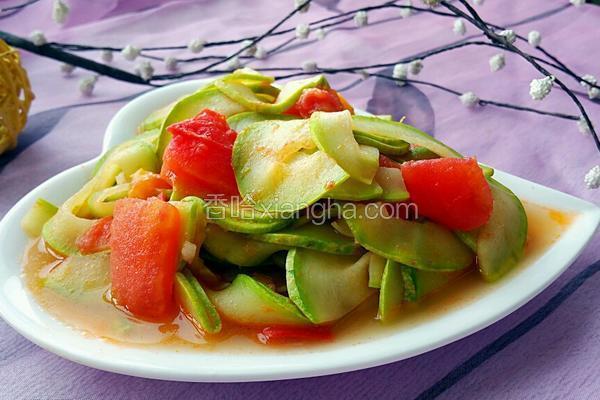 西红柿炒西葫芦片