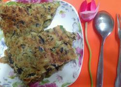 槐花鸡蛋煎饼