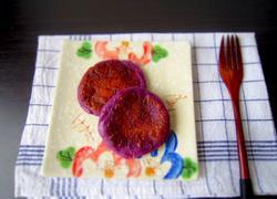 紫番薯糯米饼