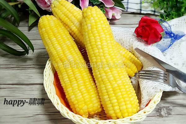微波炉煮玉米