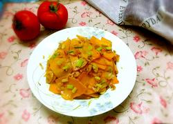 南瓜炒虾米