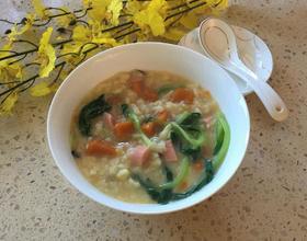 南瓜火腿疙瘩汤