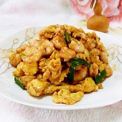 鲜虾仁炒蛋