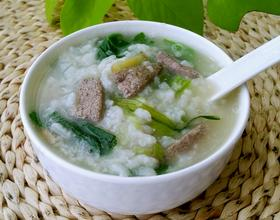 菠菜猪肝粥[图]